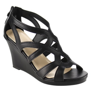 Beston Cut Out Wedge Sandals