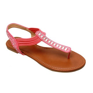 Beston Studded Thong Sandals