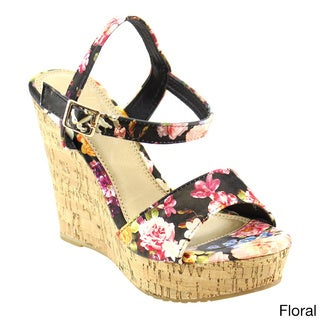 Spirit Moda FB25 Women's Platform Ankle Strap High Heel Wedges Sandals