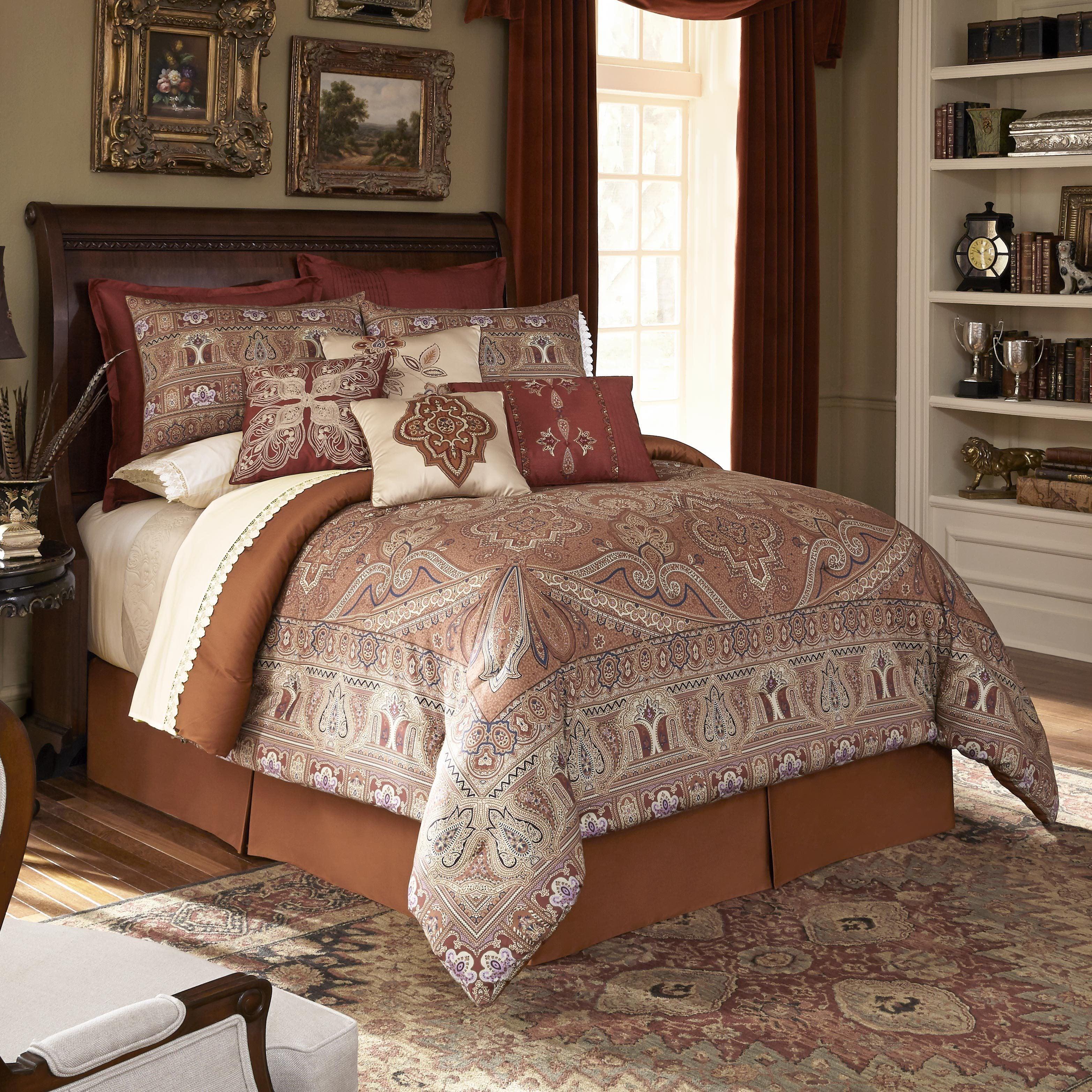 Shop Downton Abbey Grantham 4 Piece Comforter Set Overstock