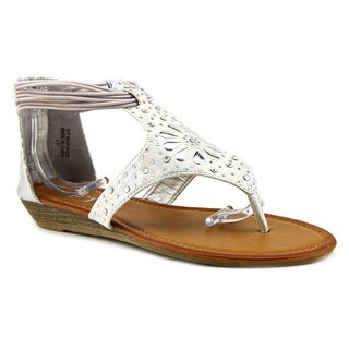 r.b.l.s. Women's 'Alleh' Silver Synthetic Sandals