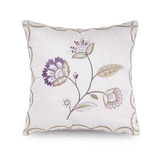 Downton Abbey Crawley Embroidered Flower Decorative Throw Pillow