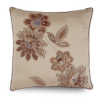 Downton Abbey Grantham Floral Embroidered Decorative Throw Pillow