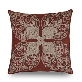 Downton Abbey Grantham Embroidered Decorative Throw Pillow