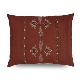 Downton Abbey Grantham Embroidered Pleat Decorative Throw Pillow