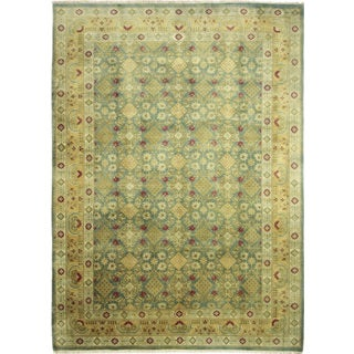 Fine Vintage Rayan Green Hand-knotted Rug (10'1 x 14'4)