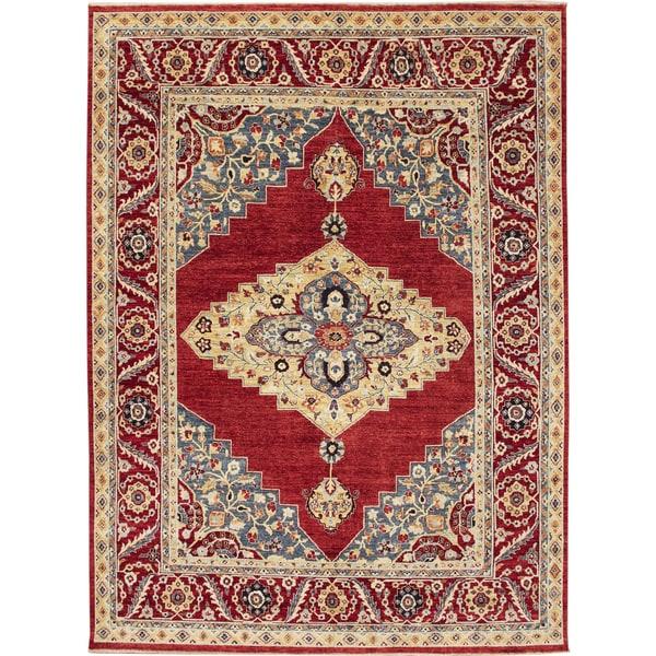 Fine Choubi Maha Rust Hand-knotted Rug (7'11 x 10'4)