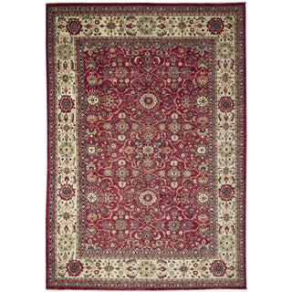 Fine Choubi Driss Rust Hand-knotted Rug (9'8 x 13'11)