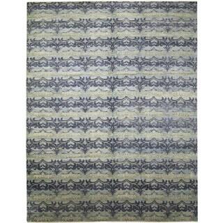 Fine Oushak Jaleh Blue Hand-knotted Rug (10'1 x 14')