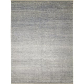 Fine Grass Walid Grey Hand-knotted Rug (8'10 x 12'3)
