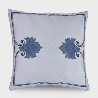 Downton Abbey Aristocrat Silver Square long Decorative Throw Pillow