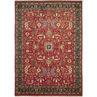 Super Kazak Fadel Red Hand-knotted Rug (8'9 x 12')