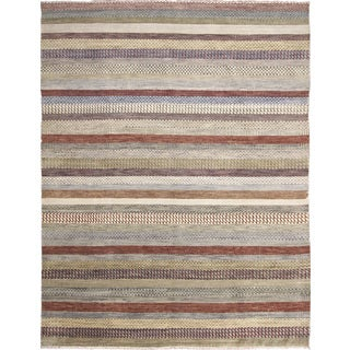 Fine Oushak Fabian Green Hand-knotted Rug (8'10 x 11'9)