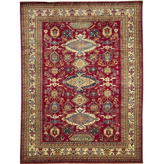 Super Kazak Farah Red Hand-knotted Rug (8'10 x 11'7)