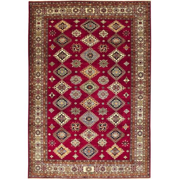 Super Kazak Payam Red Hand-knotted Rug (8'8 x 12'3)