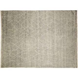 Fine Oushak Mahsheed Grey Hand-knotted Rug (8'10 x 11'10)