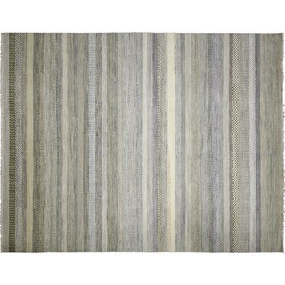 Fine Oushak Shahriar Beige Hand-knotted Rug (10'3 x 14')