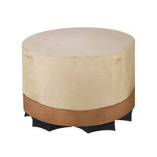 Villacera High Quality Patio Table and Chair Cover Round Beige and Brown 72-inch