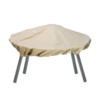 Villacera Economy Patio Fire Pit Cover Round Beige