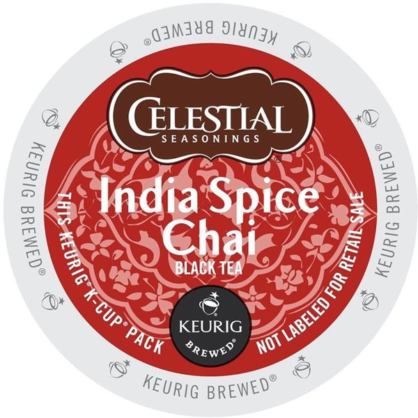 Celestial Seasonings India Spice Chai Tea K-Cup Portion Pack for Keurig Brewers