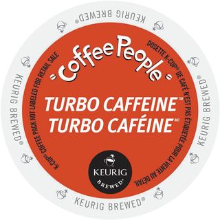Coffee People Turbo Caffeine K-Cup Portion Pack for Keurig Brewers