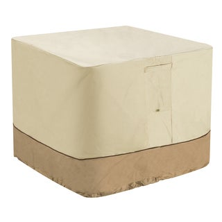 Villacera High Quality Air Conditioner Cover Square Beige and Brown 34-inch x 34