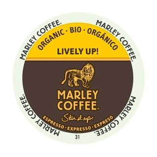 Marley Coffee Lively Up Espresso Dark Organic K-Cup Portion Pack for Keurig Brewers (2 options available)