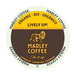 Marley Coffee Lively Up Espresso Dark Organic K-Cup Portion Pack for Keurig Brewers