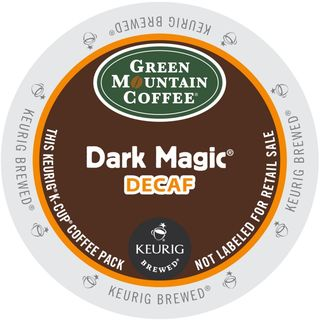 Green Mountain Dark Magic Decaf Extra Bold Coffee K-Cup Portion Pack for Keurig Brewers