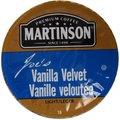 Martinson Coffee Vanilla Velvet K-Cup Portion Pack for Keurig Brewers