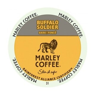 Marley Coffee Buffalo Soldier K-Cup Portion Pack for Keurig Brewers