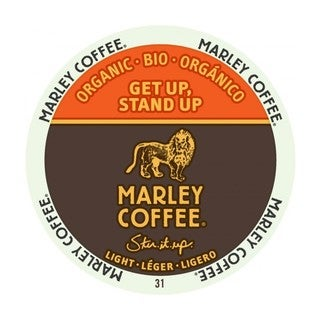 Marley Coffee Get Up Stand Up Light Organic K-Cup Portion Pack for Keurig Brewers