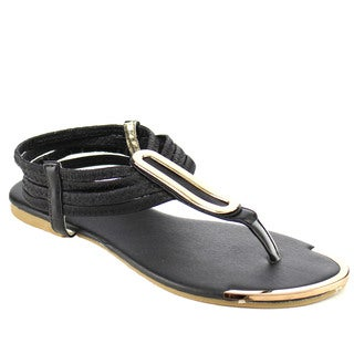 Beston Fb43 Women's T-strap Flat Sandals