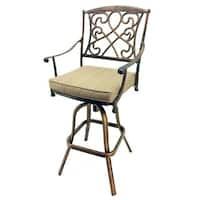 SB Wilshire Rotating Cast Aluminum Outdoor Barstool
