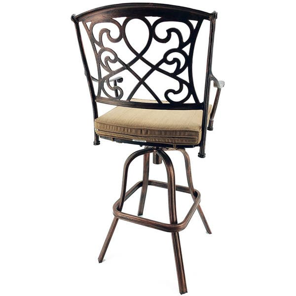 Cool Shop Sb Wilshire Rotating Cast Aluminum Outdoor Barstool Andrewgaddart Wooden Chair Designs For Living Room Andrewgaddartcom