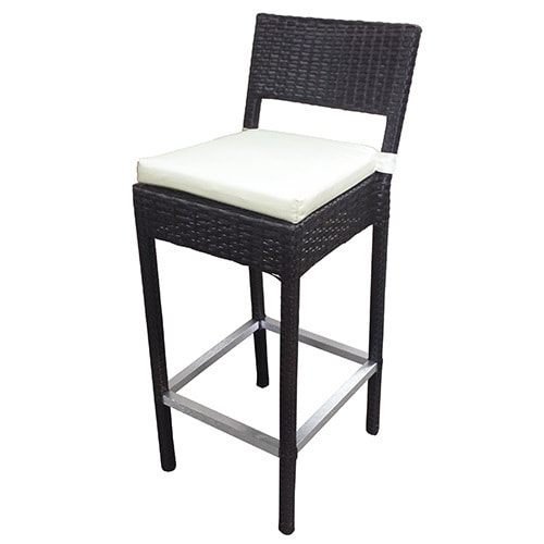 Sb Preston Woven Wicker Outdoor Bar Stool Set Of 4