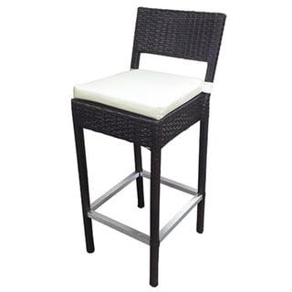 SB Preston Woven Wicker Outdoor Barstool (Set of 2)