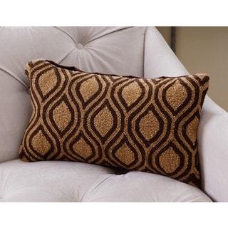 ABBYSON LIVING Thatcher Geometric New Zealand Polyester Filled Wool Throw Pillow