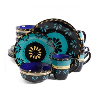 Multicolored 16 Piece Dinnerware Set with Floral Design