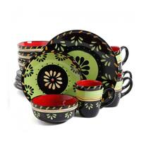 16 Piece Dinnerware Set with Floral Design