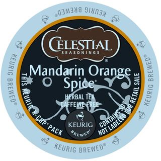 Celestial Seasonings Mandarin Orange Spice Herbal Tea K-Cup Portion Pack for Keurig Brewers