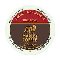 Marley Coffee One Love Medium Organic K-Cup Portion Pack for Keurig Brewers