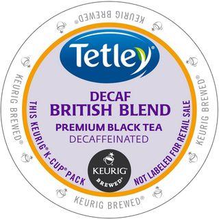 Tetley Tea British Blend Decaf Tea K-Cup Portion Pack for Keurig Brewers
