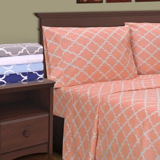Superior Cotton 300 Thread Count Trellis Pillowcase Set