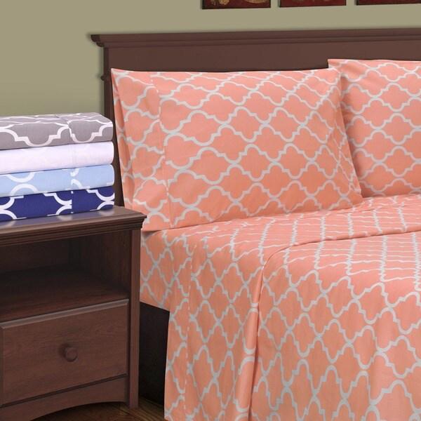 Superior 300 Thread Count Cotton Trellis Pillowcases (Set of 2)