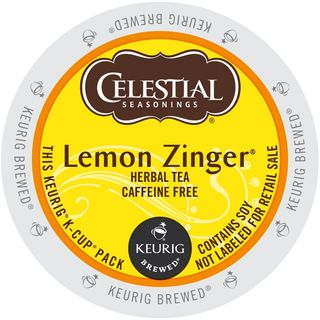 Celestial Seasonings Lemon Zinger Herbal Tea K-Cup Portion Pack for Keurig Brewers