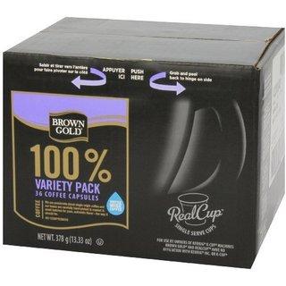 Brown Gold Coffee Variety Pack K-Cup Portion Pack for Keurig Brewers