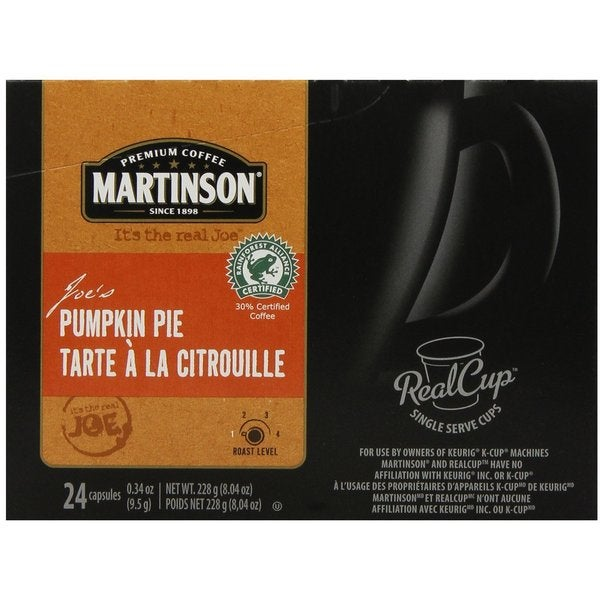 Martinson Coffee Pumpkin Pie K Cup Portion Pack For Keurig Brewers