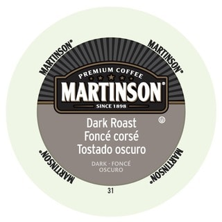 Martinson Coffee Dark Roast, K-Cup Portion Pack for Keurig Brewers