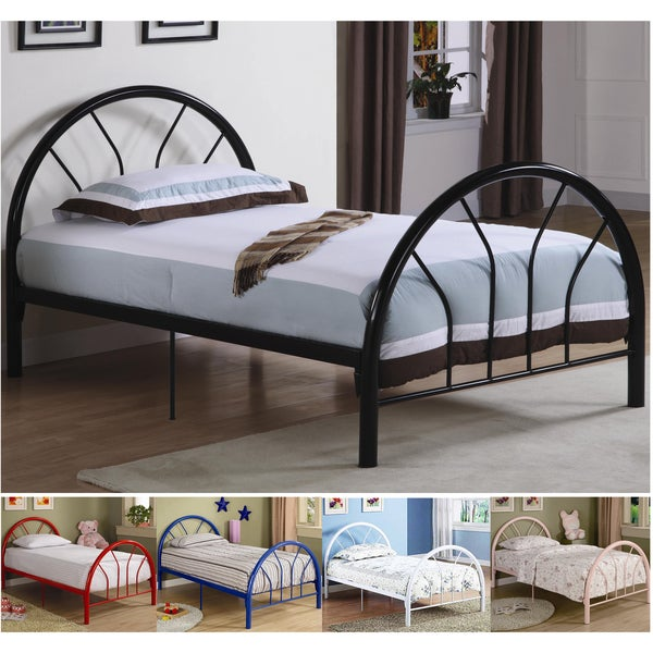 Belledica Twin Size Metal Bed Set Headboard Footboard And
